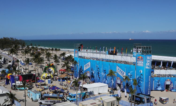 Beach-Volleyball Arena FiVB Worldtour Major 5-Star Fort Lauderdale USA